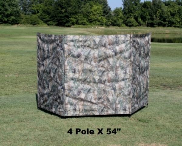 4 Pole 54″ Tall HD Blind- Camo, Steinman Retriever Products
